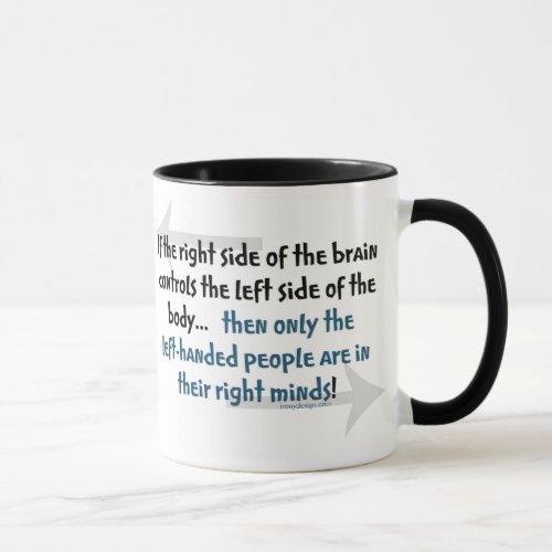 Left-handed people mug