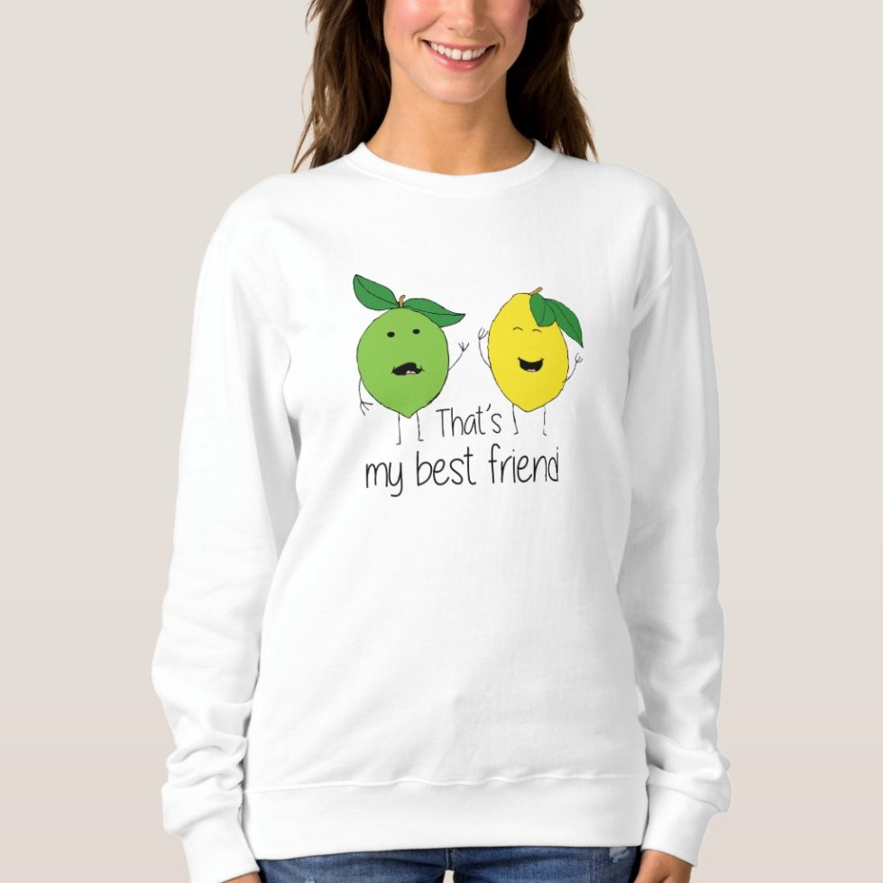 Lemon and Lime Best Friends BFF T-Shirt