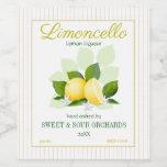 Lemon Citrus Fruit Limoncello Wine Label