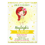Lemon invitation Lemonade stand invitation Citrus (also available in other styles)