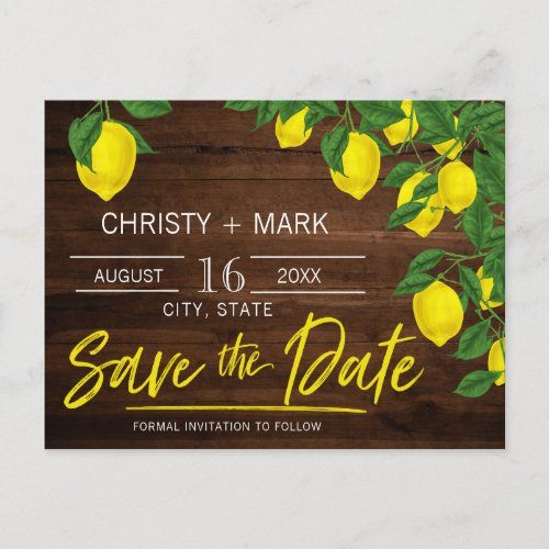 Lemon Wood Summer | Save the Date Postcard