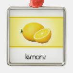 Lemons ornaments