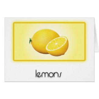 Lemons Greeting Cards