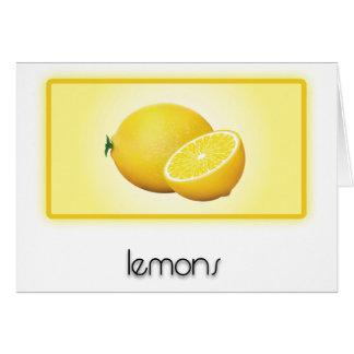 Lemons Greeting Cards