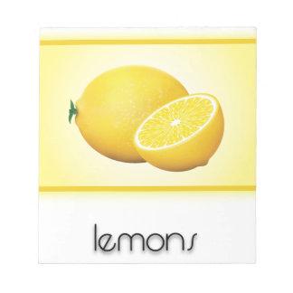 Lemons Notepads