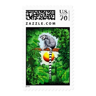 Lemur of Madagascar Postage Stamp