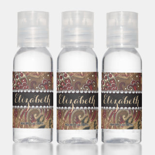 Leopard and Paisley Pattern Print to Personalize Hand Sanitizer