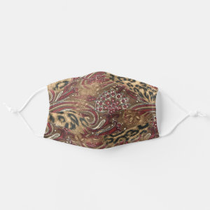 Leopard and Paisley Print Cloth Face Mask