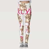LEOPARD CUTE CARTOON VALENTINE Leggings