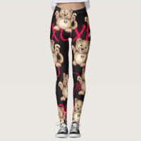 LEOPARD CUTE CARTOON VALENTINE Leggings 2