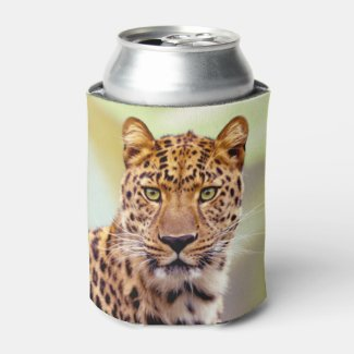 Leopard Photograph Image Can Cooler