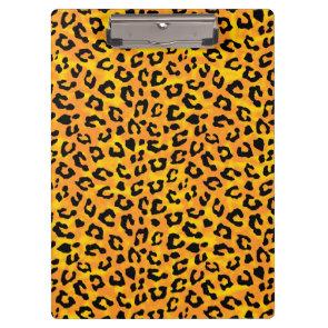Leopard Print  Orange Yellow Vector Print