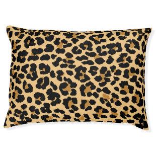 Leopard Print Pattern Dog Bed Large Dog Bed