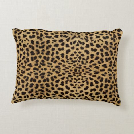 Leopard Skin Pattern Accent Pillow