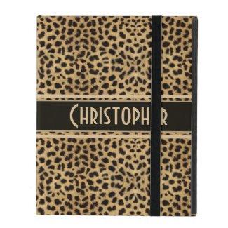 Leopard Skin Pattern Personalize iPad Cases