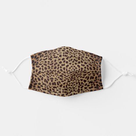Leopard Skin Spots Dark Brown Adult Cloth Face Mask