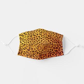 Leopard Skin Spots Yellow Orange Cloth Face Mask