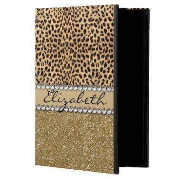 Leopard Spot Gold Glitter Rhinestone PHOTO PRINT Powis iPad Air 2 Case