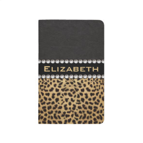 Leopard Spot Rhinestone Diamonds Monogram Journals