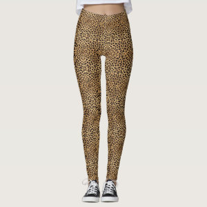 Leopard Spot Skin Print Leggings