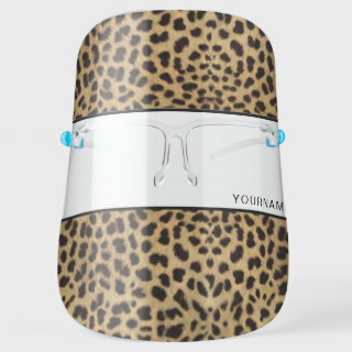 Leopard Spot Skin Print Personalized Face Shield