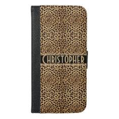 Leopard Spot Skin Print Personalized iPhone 6/6s Plus Wallet Case