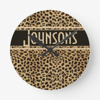 Leopard Spots Pattern Wall Clocks