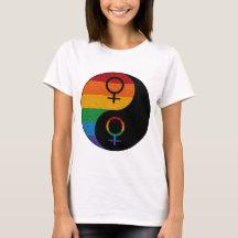 Lesbian Pride Yin and Yang T-Shirt