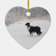 Let it Snow! Border Collie Christmas Ornament