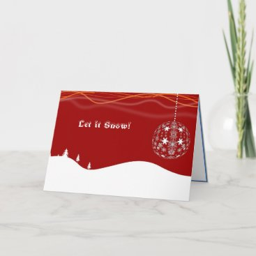 Let it snow! Red & White Christmas greeting cards