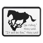 Let S Go Riding Horses Funny Quote Hitch Cover Zazzle Com