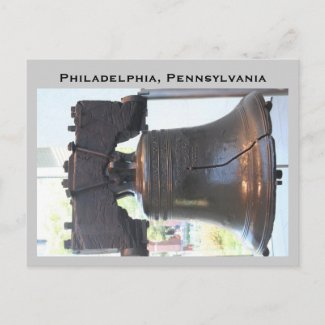 liberty bell, Philadelphia, Pennsylvania postcard