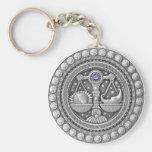 Libra Coin key chain