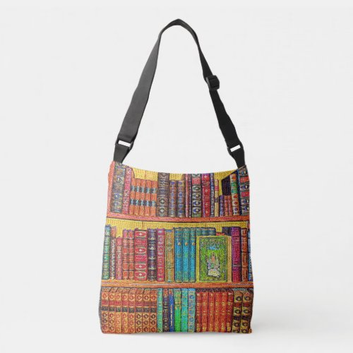 Library Books Crossbody Bag