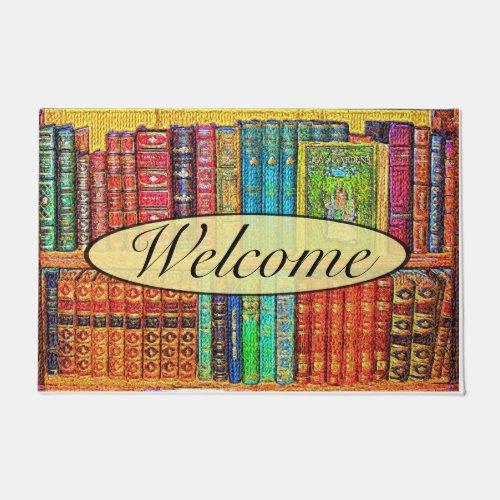 Library Books Doormat