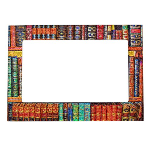 Library Books Magnetic Photo Frame