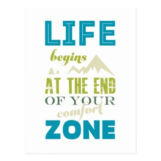 Life begins Inspirational Quote Typography Print