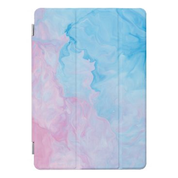 Light Blue Pink Watercolor iPad Pro Cover