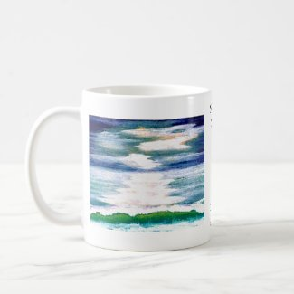 Light Dance on the Sea CricketDiane Ocean Art mug