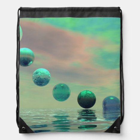Light Rises, Abstract Evolution, Transformation Drawstring Bag