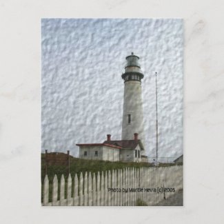 Lighthouse Photo-Painting Postcard