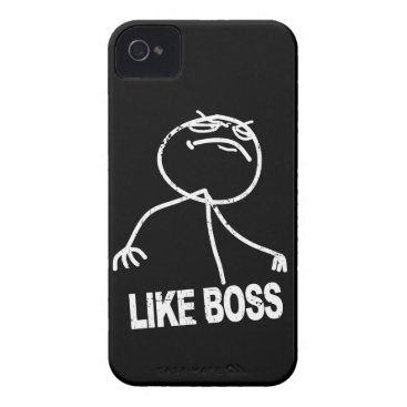 Like Boss meme iPhone 4 Case-Mate Case