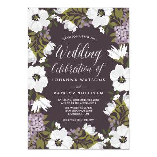 Wedding Invitation Vintage Lilac