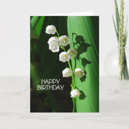 Lily of the Valley Happy Birthday card