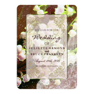 Lily Of The Valley Wedding Invitation Collection U K Cards Zazzle