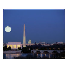 Lincoln Memorial, Washington Monument, US Poster