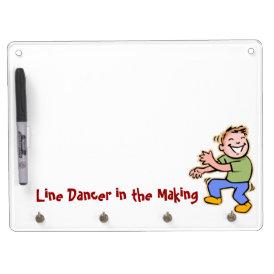 Line Dancer in the Making! (Boy) Dry Erase Board With Keychain Holder