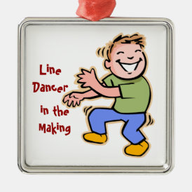 Line Dancer in the Making! (Boy) Metal Ornament
