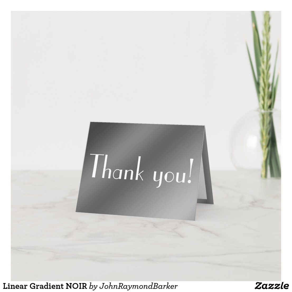 Linear Gradient NOIR Thank You Card
