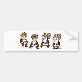 Linedancing Cows Bumper Sticker